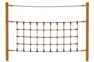 Climbing net, for robinia posts